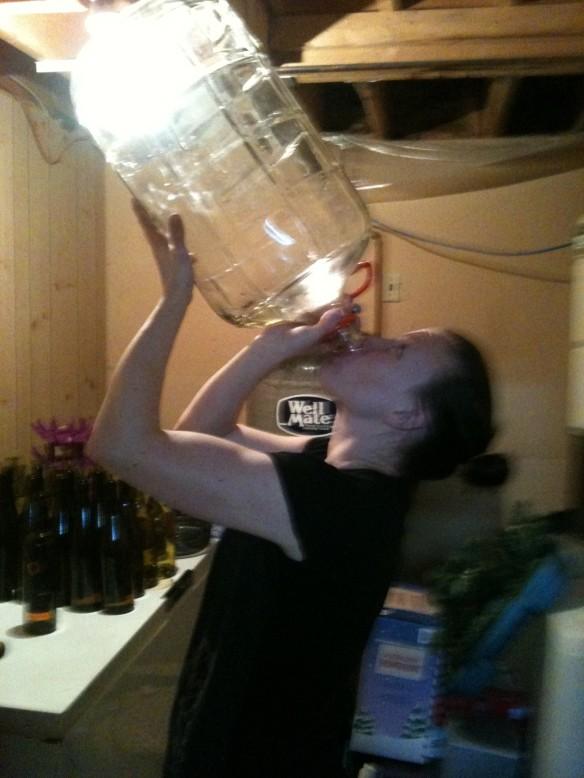 bottom of the wine barrel