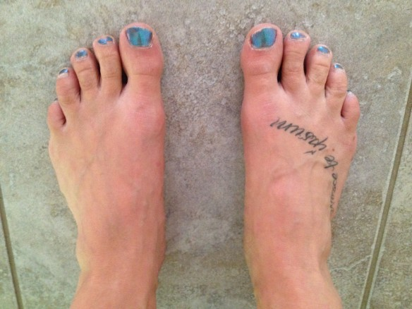 naked running feet